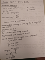 What are the components that a velocity vector can be split to?
