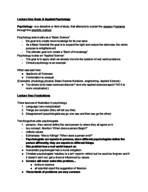 PSY 1010 - Class Notes