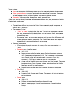 AMH 2097 - Study Guide