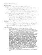 CHM 115 - Class Notes - Week 5