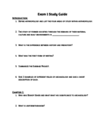 ARCH 2200 - Study Guide
