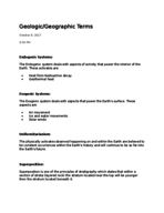 Concordia University - GEOG 274 - Study Guide - Midterm