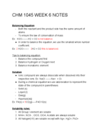 CHM 1045 - Class Notes - Week 6