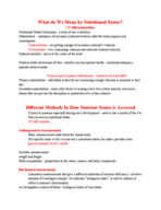 Rutgers - NFS 709 - Study Guide - Midterm
