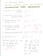 UTD - MATH 2413 - Class Notes - Week 6