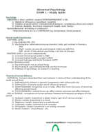 CLP 4144 - Study Guide