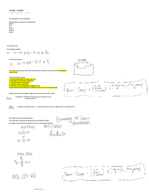 CHChemistry 1010 - Class Notes - Week 7