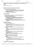 HDFS 2010 - Class Notes - Week 7