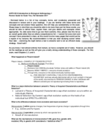 ANTH 2010 - Study Guide