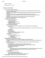 STH 1311 - Class Notes - Week 6