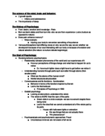PSY 101 - Class Notes - Week 1