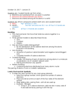 CHM 115 - Class Notes - Week 9