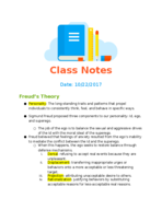 PSY 1013 - Class Notes - Week 9