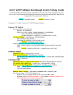 ACCT 226 - Study Guide
