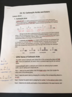 CHEM 285 - Class Notes - Week 7