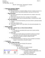 HIS 315 - Class Notes - Week 10
