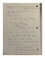 ECON 203 - Class Notes - Week 9