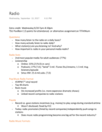 Cal State Fullerton - COMM 346 - Class Notes - Week 3
