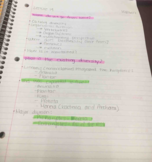 BIO 1500 - Class Notes - Week 9