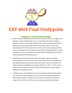 exp 4604 - Study Guide