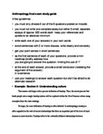 Concordia University - ANTH 202 - Study Guide - Final