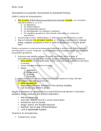 CLP 4146 - Study Guide