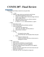 comm 30701 - Study Guide