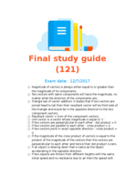 PHY 121 - Study Guide