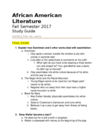 ENGL 11874 - Study Guide