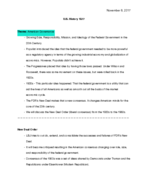 Texas State - HIST 1320007 - Class Notes - Week 16