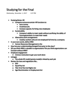 MGMT 2001 - Class Notes - Week 8