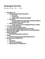 MGMT 2001 - Study Guide