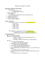PHY 101 - Class Notes - Week 1