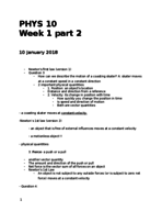 UCR - PHYS 010 - Class Notes - Week 1