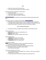 POLS 1101 - Class Notes - Week 2