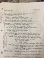 Anthropology 1102 - Class Notes - Week 3
