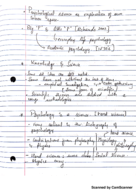 Rutgers - Intro to Psychology 101 - Class Notes - Week 1