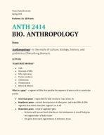 ANTH 2414 - Class Notes - Week 3
