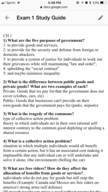 American Government 130 - Study Guide