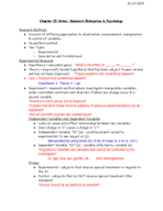 PSY 101 - Class Notes - Week 2