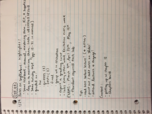 CHE 108 - Class Notes - Week 1