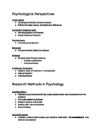 Berkeley City College - PSYCHOLOGY1A 1 - Class Notes - We...