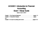 ACG 2021 - Study Guide