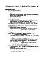UH - MUSI 2302 - Study Guide - Midterm