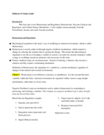 IPHY 3470 - Study Guide