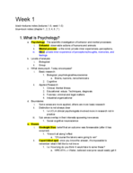 UCLA - PSYCH 10 - Study Guide - Midterm