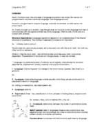Concordia University - LING 222 - Study Guide - Final