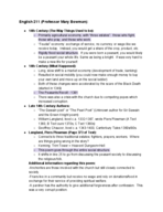UWSP - ENGL 211 - Class Notes - Week 4