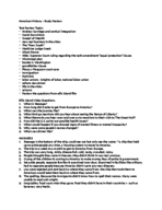 HIST - Study Guide
