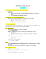 HPA 490 - Study Guide